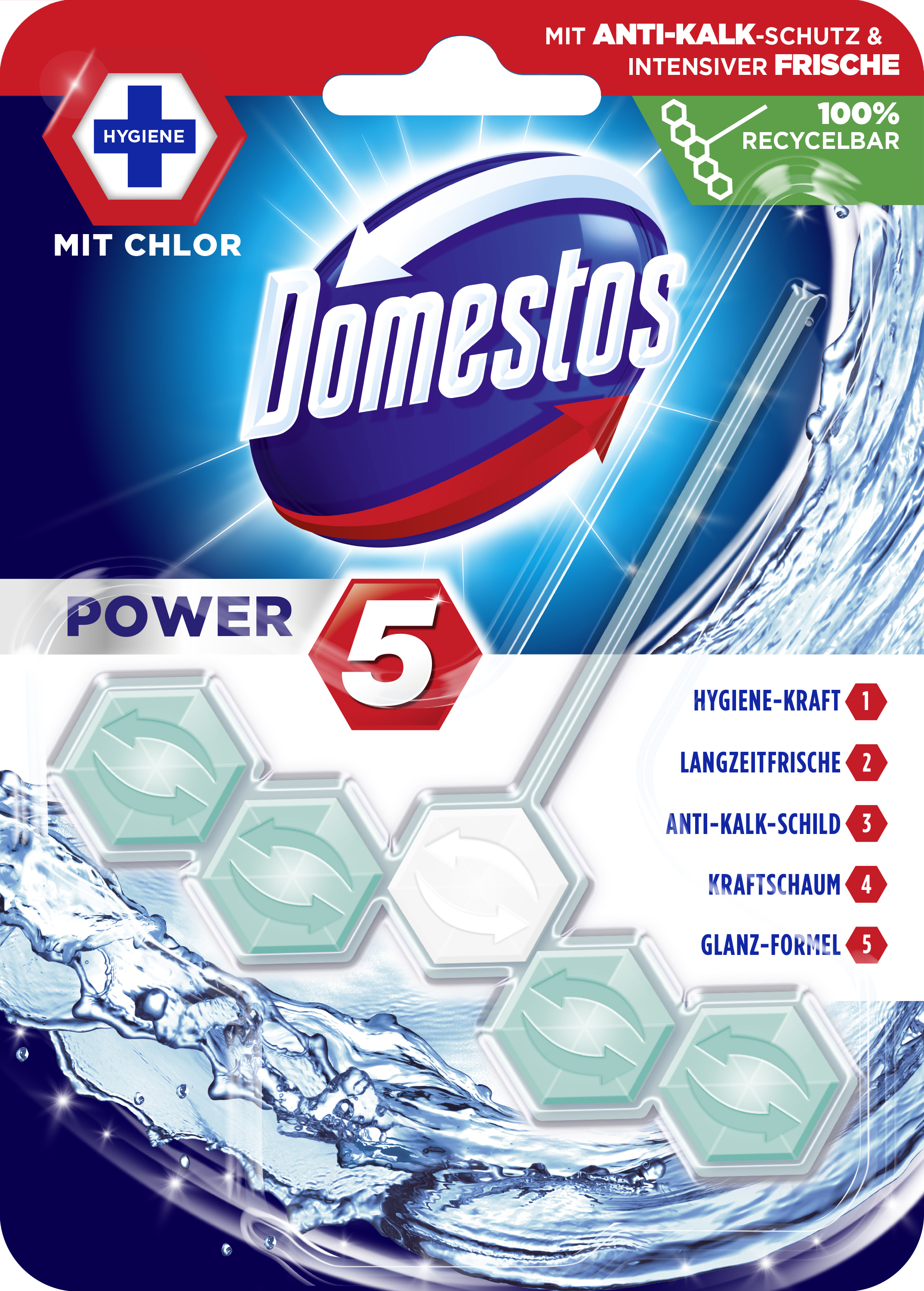 Domestos WCSt Power5Ch 9x 55g PK