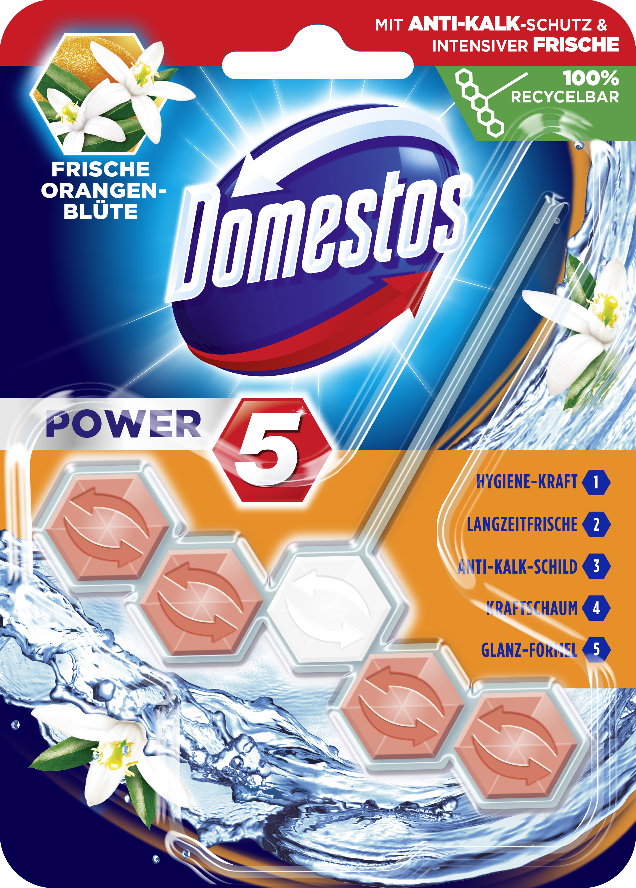 Domestos WCSt Power5Or 9x 55g PK