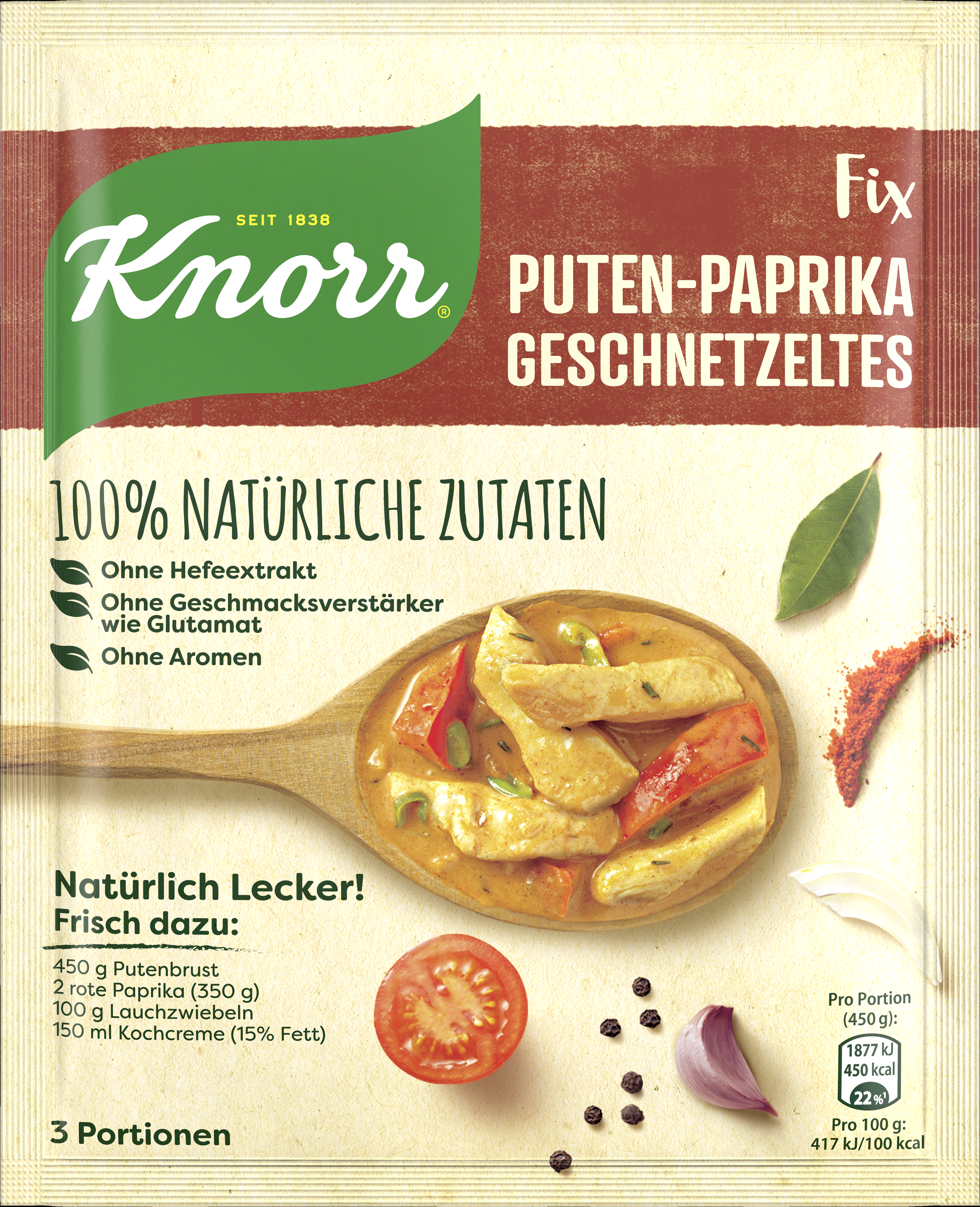 Knorr Natuerl Pute Pap 16x 58g BT