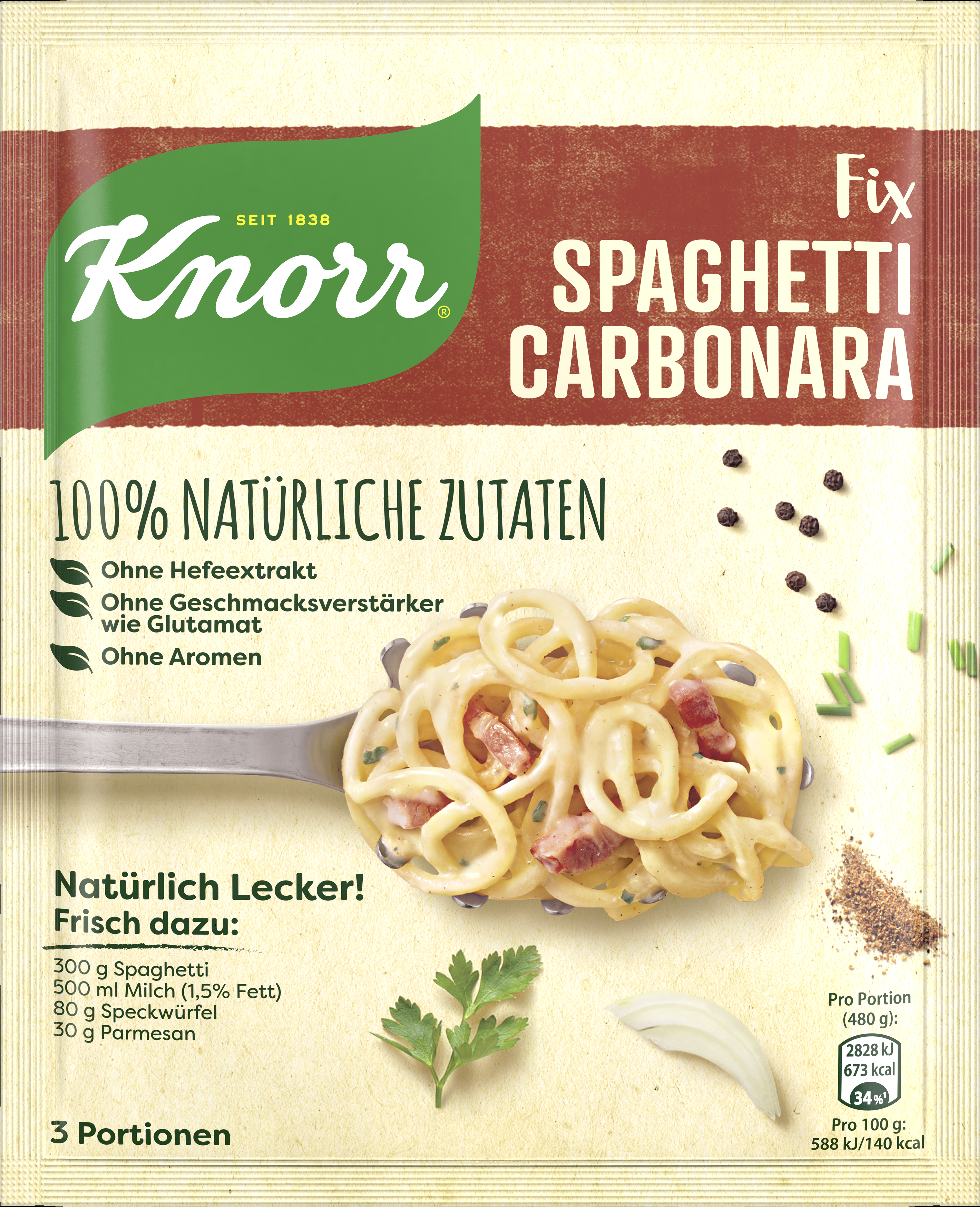 Knorr Natuerl SpagCarb 21x 47g BT